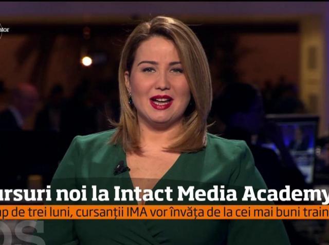 Intact Media Academy continuă înscrierile pentru prima serie din acest an, la cursurile de Prezentator şi Reporter TV