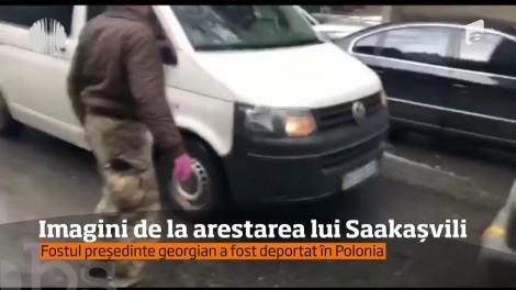 Fostul preşedinte georgian Mihail Sacaşvili, unul dintre liderii opoziţiei din Ucraina, a fost deportat în Polonia.