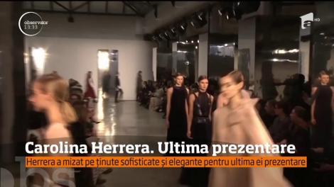 După patru decenii de activitate, Carolina Herrera se retrage din fruntea companiei de modă care îi poartă numele