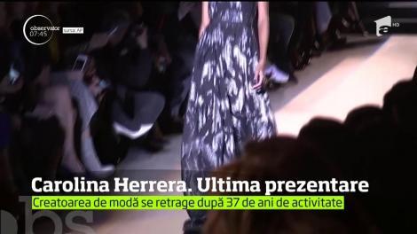 După aproape 40 de ani de activitate, Carolina Herrera se retrage din fruntea companiei care îi poartă numele
