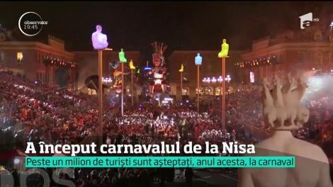 """A început carnavalul de la Nisa.  Anul acesta, tema este """"Regele Spaţial"""""""