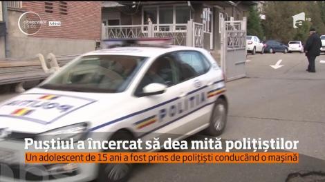 Un adolescent de 15 ani din Craiova, prins fără permis la volan, a încercat să-i mituiască pe poliţişti