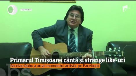 Primarul din Timişoara, Nicolae Roibu, își exprimă sentimentele prin muzică