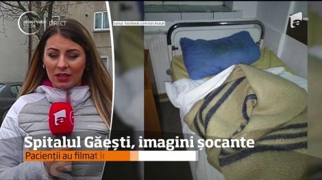 Imaginile groazei, într-un alt spital din România. Veselă mizerabilă, bolnavi chirciți în paturi vechi, cu lenjeria ruptă și pătată de rănile altor pacienți
