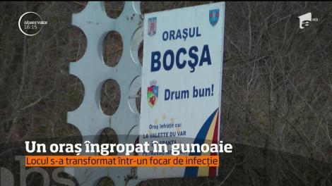 Oraşul Bocşa a ajuns să se scufunde în gunoaie