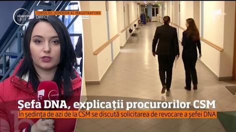 Şefa DNA, Laura Codruţa Kovesi, explicații procurorilor CSM