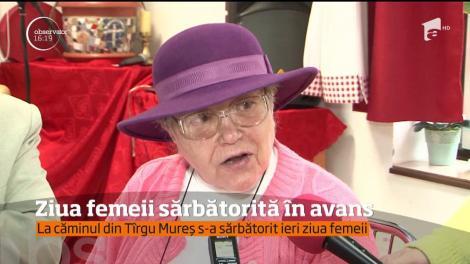 Într-un cămin de bătrâni din Târgu Mureş, ziua de 8 martie a fost marcată în avans