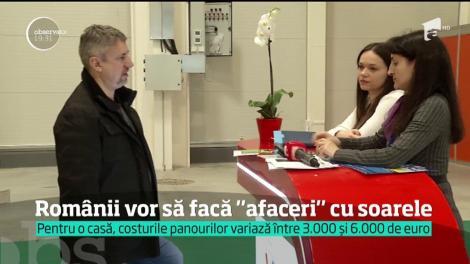 Tot mai mulţi români apelează la panourile solare pentru furnizarea de energie