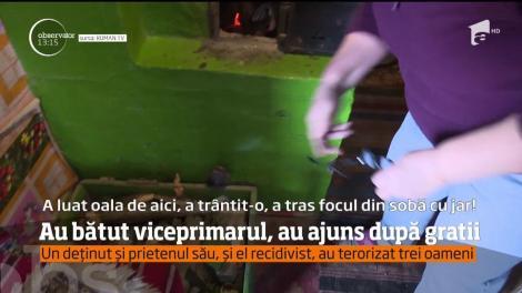 Viceprimarul unei comune din judeţul Neamţ a ajuns în spital, după ce a fost bătut cumplit de un deţinut eliberat pentru 24 de ore şi de prietenul său, recidivist!