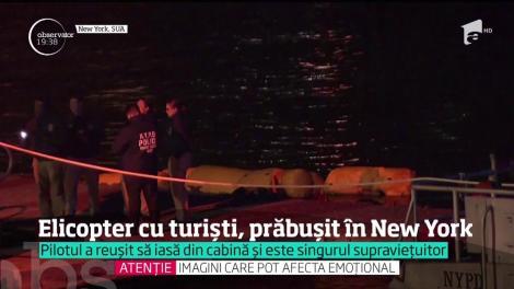 Un elicopter plin cu turişti s-a prăbuşit în New York. Doar pilotul a supravieţuit