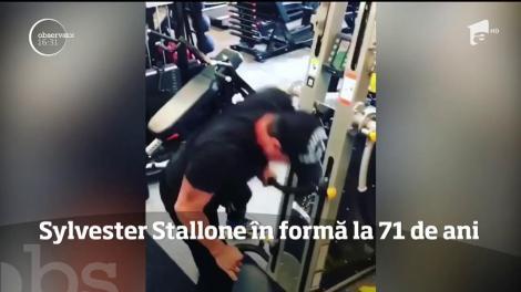 Sylvester Stallone în formă şi la 71 de ani. Actorul merge în mod regulat la sală, în pofida vârstei sale înaintate