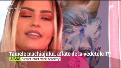 Make-up-ul este o artă. Asta învaţă şi cursanţii Intact Media Academy. Iar fiecare zi de curs e presărată cu suprize