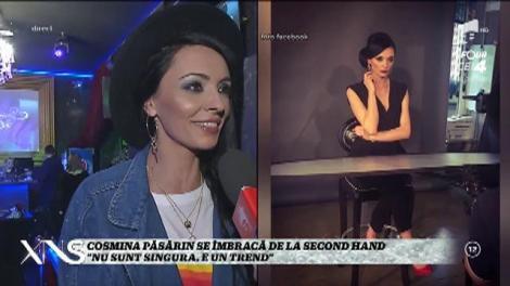 """Cosmina Păsărin se îmbracă de la second hand: """"Nu sunt singura. E un trend"""""""