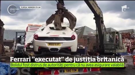 Poliţia britanică nu glumeşte cu maşinile găsite fără acte în regulă