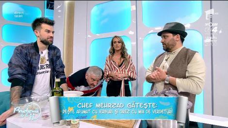 """Chef Mehrzad gătește - """"Pește afumat cu ierburi și orez cu mix de verduțuri"""""""