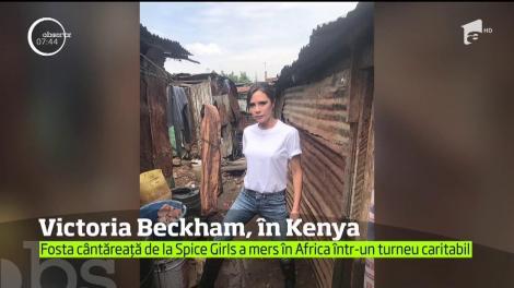Victoria Beckham, în Kenya