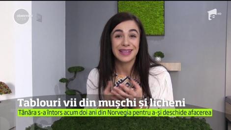 O tânără din Baia Mare a deschis o afacere mai puţin obişnuită în România. Face tablouri vii din muşchi şi licheni