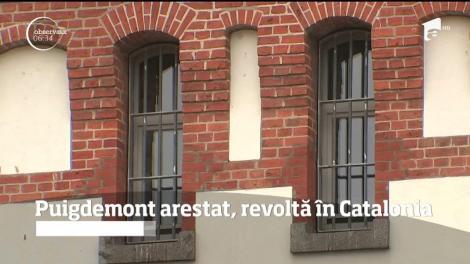 Puigdemont arestat, revoltă în Catalonia
