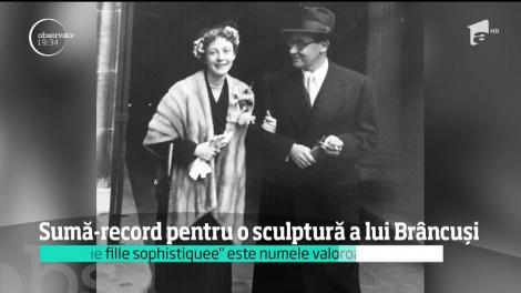 O operă semnată de Constantin Brâncuşi ar putea deveni una dintre cele mai scumpe sculpturi vândute vreodată