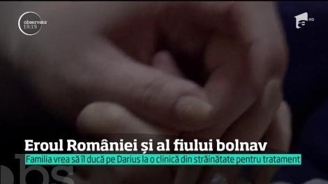 """""""Tati, sunt aici pentru tine"""", mesajul unui militar român care vrea să-și salveze copilul bolnav de tetrapareză spastică și epilepsie"""