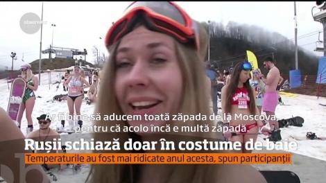 1800 de ruși au schiat în costume de baie, în staţiunea Soci