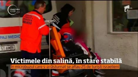 Turiştii israelieni răniţi după ce microbuzul în care se aflau s-a răsturnat, în stare stabilă