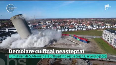 Demolare cu final neașteptat în Danermarca