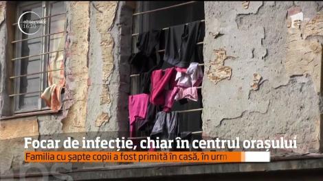 Focar de infecție, chiar în centrul orașului Arad