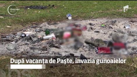 După minivacanţa de Paște, mormane de gunoi! Turiștii au încălcat cele mai elementare reguli