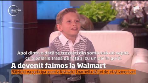 """Povestea unui copil devenit star, peste noapte! După ce a cântat într-un hypermarket, a devenit un adevărat star: """"Sunt un băiat de la ţară. Acolo, doar strângem fânul în baloţi"""""""