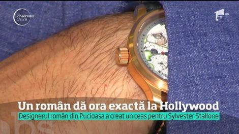 """De la Pucioasa, la Hollywood! Sylvester Stallone poartă ceasul unui artist român: """"Sper să mai fie şi alte vedete"""""""