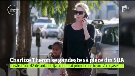 Charlize Theron ar putea părăsi Statele Unite