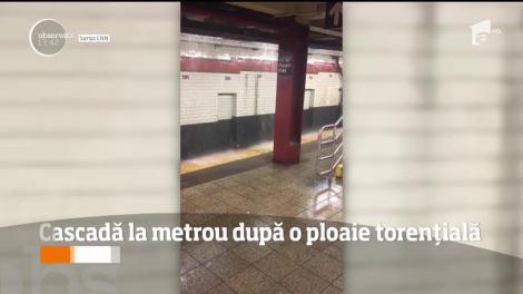 Cascadă la metroul din New York, după o ploaie torențială