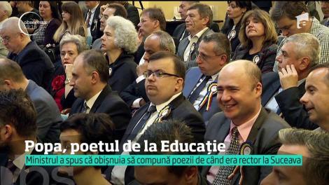 """Ministrul Educației, Valentin Popa, îi face concurență lui Eminescu: """"Acei ce-şi serbează existenţa la înflorit mijloc de aprilie!"""""""