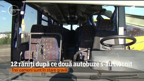 Cod roşu în judeţul Satu Mare! Două autobuze cu pasageri s-au ciocnit frontal, iar mai mulţi oameni au putut fi scoşi doar după intervenţia celor de la descarcerare