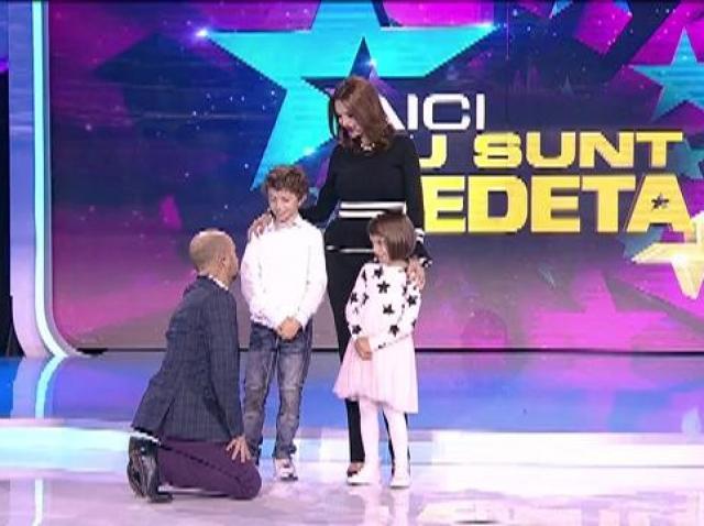 """Se anunță o seară pe cinste! Copiii Cristinei Spătar, ai lui Gelu Voicu și Silviu Andrei spun secretele părinților lor,  la """"Aici eu sunt vedeta!"""""""