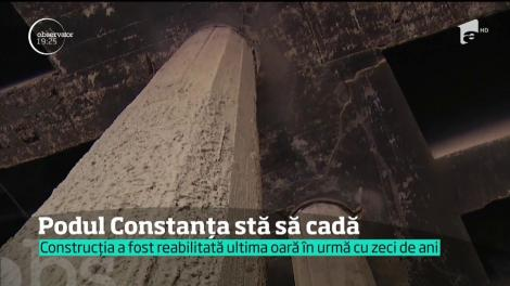 """Un pod din Bucureşti poate fi numit """"bomba cu ceas a Capitalei"""". Vechi de optzeci de ani, a fost reparat o singură dată şi s-ar putea prăbuşi oricând peste zecile de maşini care trec, în fiecare minut, pe sub el"""