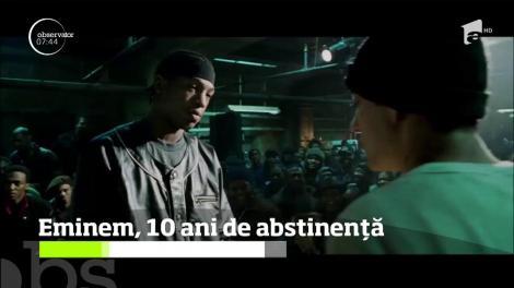 Eminem a sărbătorit 10 ani de abstinenţă!