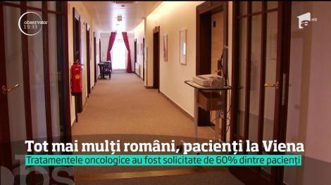 Tot mai mulți români, pacienți la Viena