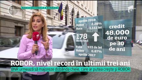 O nouă lovitură pentru românii cu credite în lei! Ratele vor crește semnificativ,  după ce indicele ROBOR a bătut recordul ultimilor trei ani şi jumătate