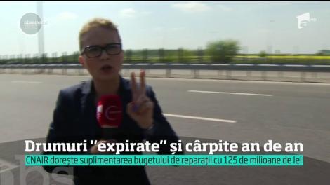 Jumătate din drumurile din România, un adevărat pericol