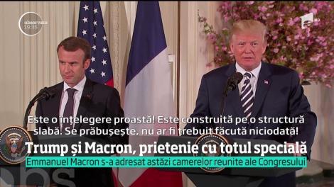 Trump și Macron, prietenie cu totul specială