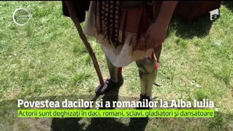 Spectacol grandios de costume şi obiceiuri de pe vremea dacilor şi romanilor, la Alba Iulia