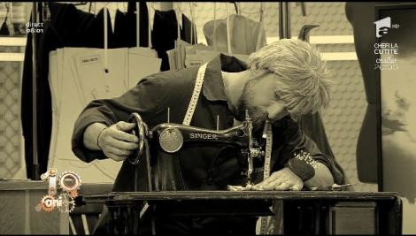 """""""Munca și cum să ne ferim de ea"""". De Ziua Muncii, Dani întruchipează un croitor, iar Răzvan un cizmar-chimist!"""