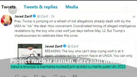 Proiect nuclear iranian, dezvăluit în Israel. Iranul a renunțat la înarmarea nucleară prin acordul cu marile puteri din 2015
