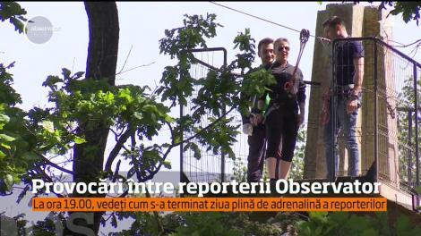 Provocări între reporterii Observator. La ora 19.00, vedeți cum s-a terminat ziua plină de adrenalină a reporterilor