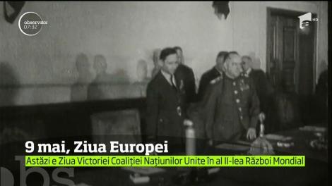 Se sărbătoreşte Ziua Europei, mai exact victoria Coaliţiei Naţiunilor Unite în cel de-al doilea război mondial