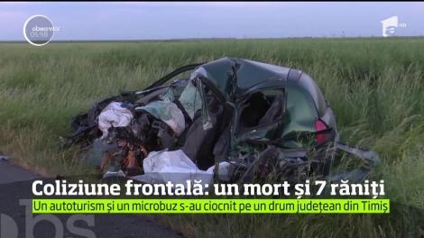 Viteza şi neatenţia la volan i-au adus moartea unui tânăr pe o şosea din Timiş