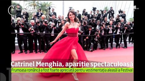 Catrinel Menghia, apariție spectaculoasă la Festivalul de Film de la Cannes