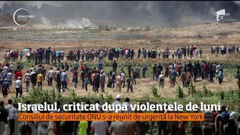 Israelul, criticat după violențele de luni, atunci când 60 de oameni au murit
